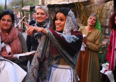Frauen im Antiken Mark entdeckt Jesus
