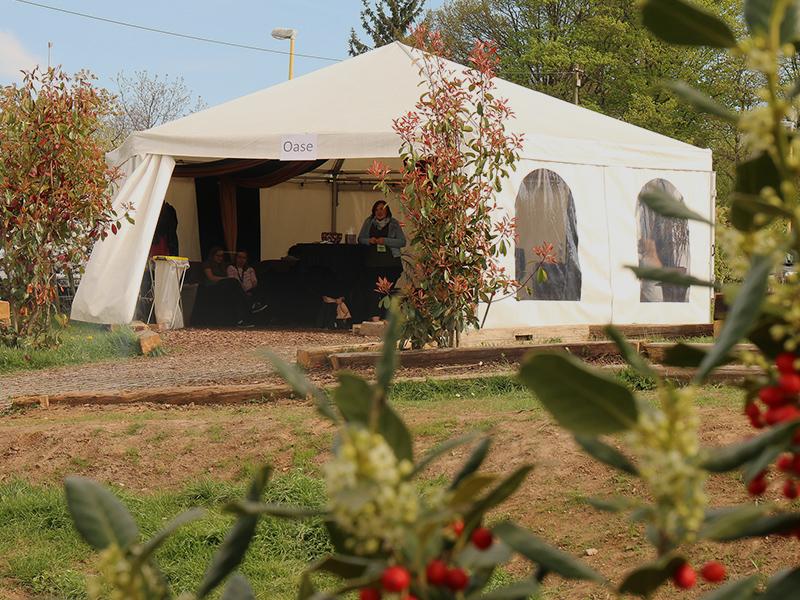 Seelsorge Zelt für Gebet und Gespräch