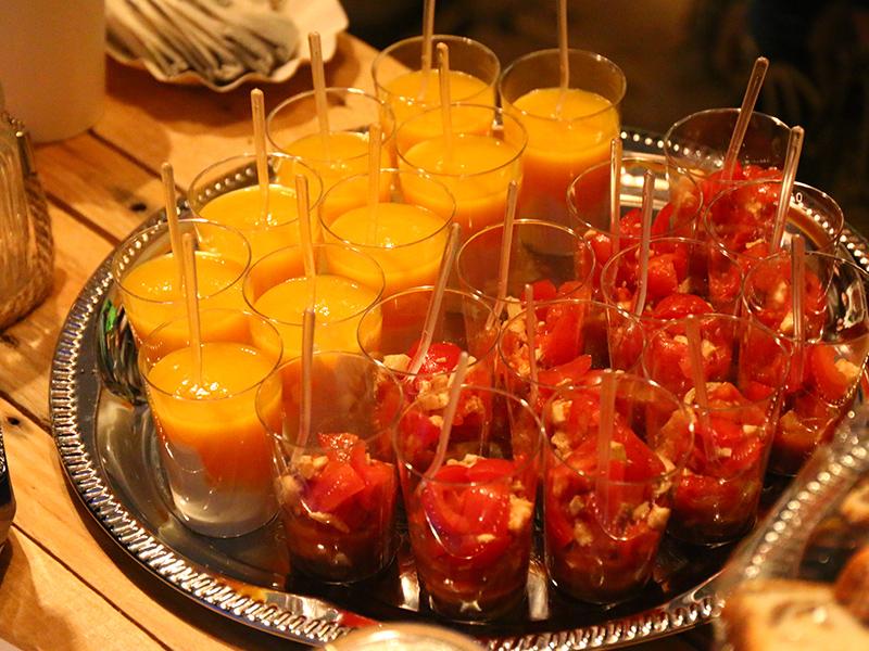 Leckere Snacks fürs Sponsoren Catering